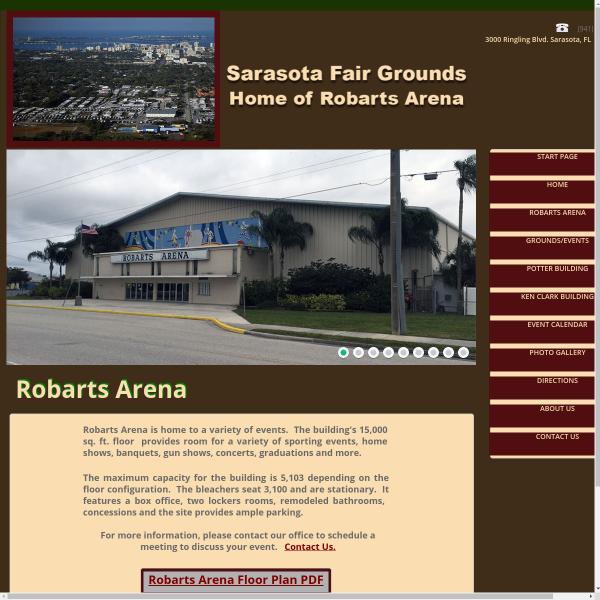Robarts Sports Arena website screenshot